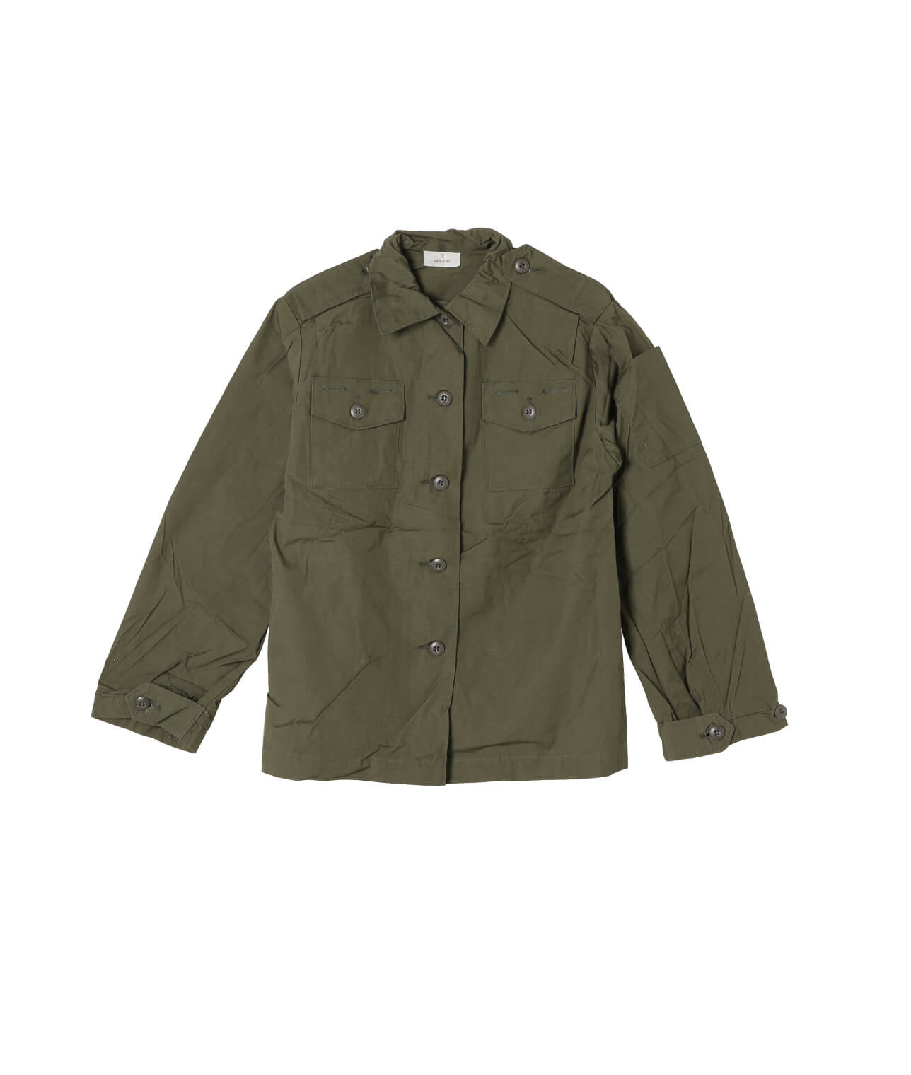 USED/US MILITARY W's RIPS TOP SHIRT DEAD STOCK 詳細画像 OLIVE 1
