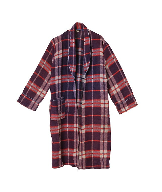 USED/WOOL PLAID GOWN