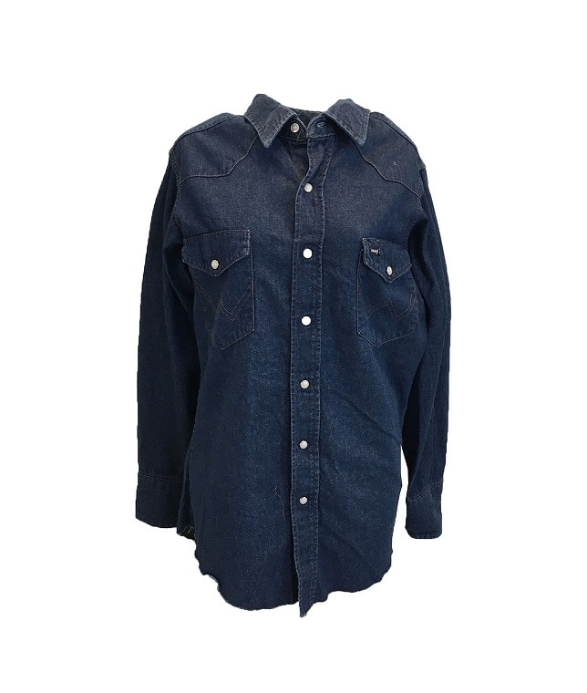 USED/WRANGLER DENIM WESTERN SHIRT