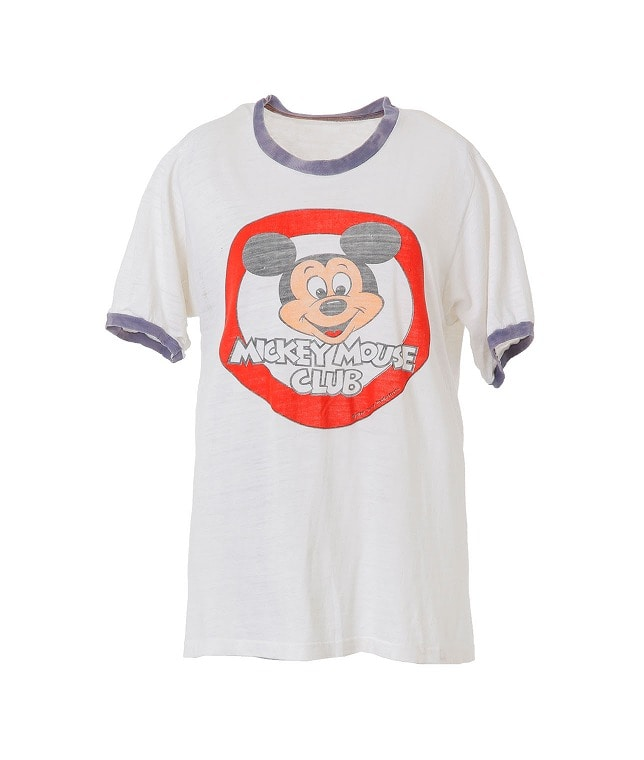 USED/MICKY MOUSE TRIM Tシャツ