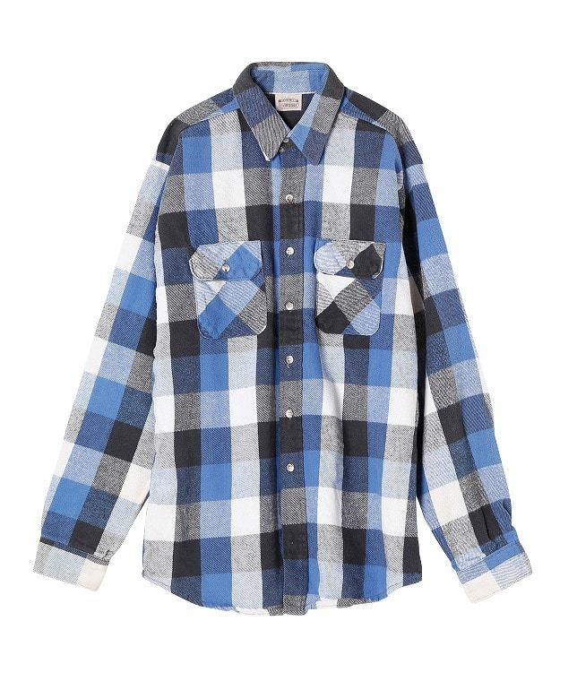 USED/FIVE BROTHER HEAVY FLANNEL SHIRT