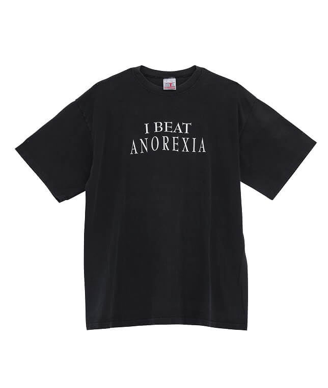 USED/90-00's I BEAT ANOREXIA MESSAGE T SHIRT
