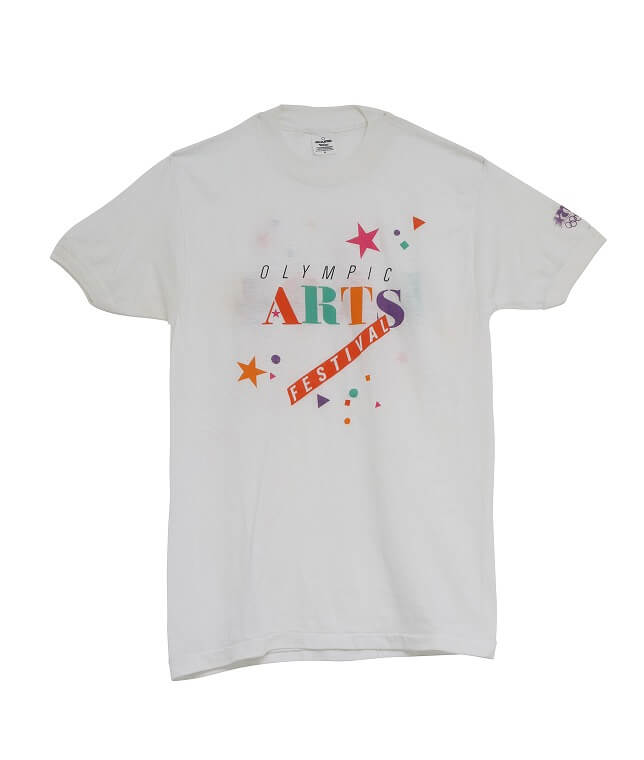 USED/84 OLYMPIC ARTS FESTIVAL T SHIRT DEAD