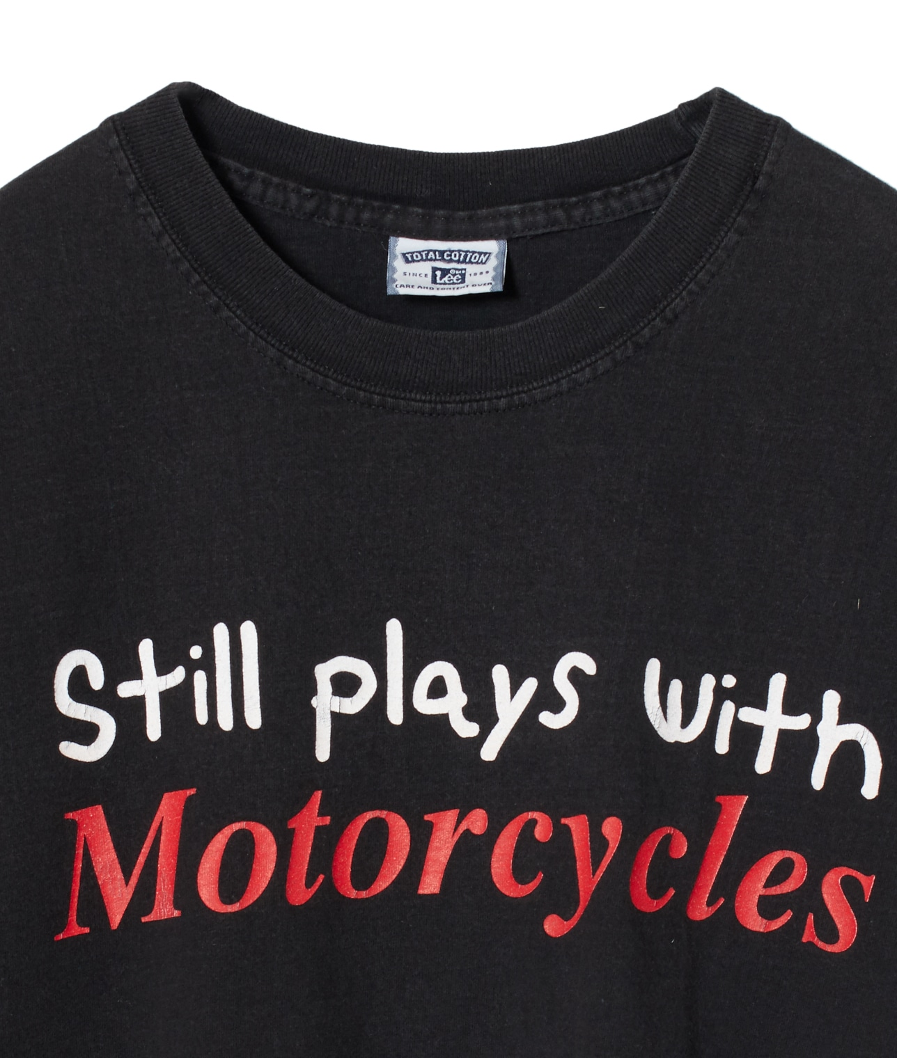 "USED/""STILL PLAYS WITH MOTORCYCLES"" T SHIRT 詳細画像 BLACK 3"