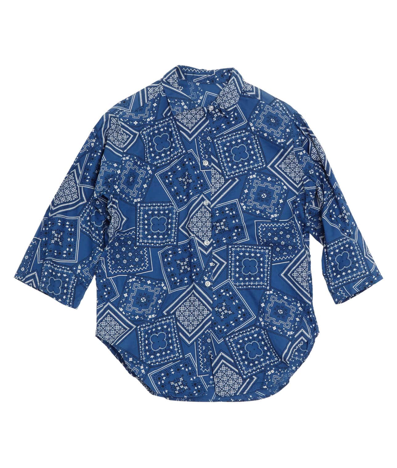 USED/BANDANA PATTERN ALL PRINT LOOP SHIRT  詳細画像 BLUE 1