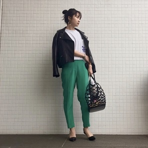 Green pants coordinate