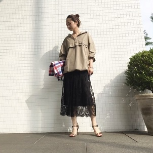 Anorak × Lace Skirt Coordinate